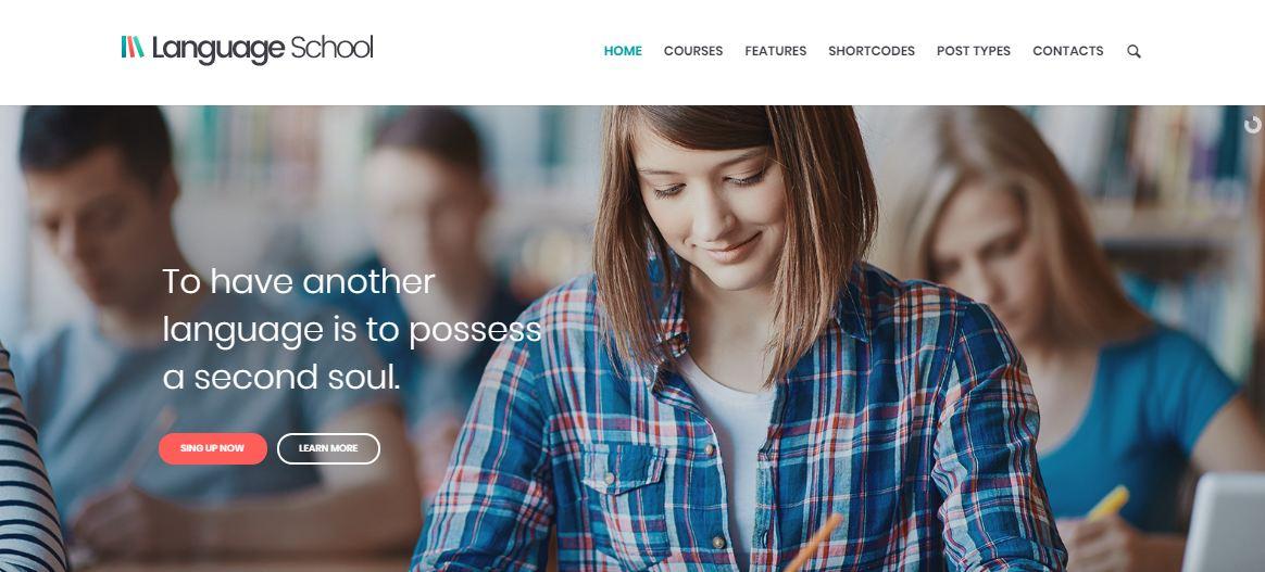 Mẫu website trường học - Language School