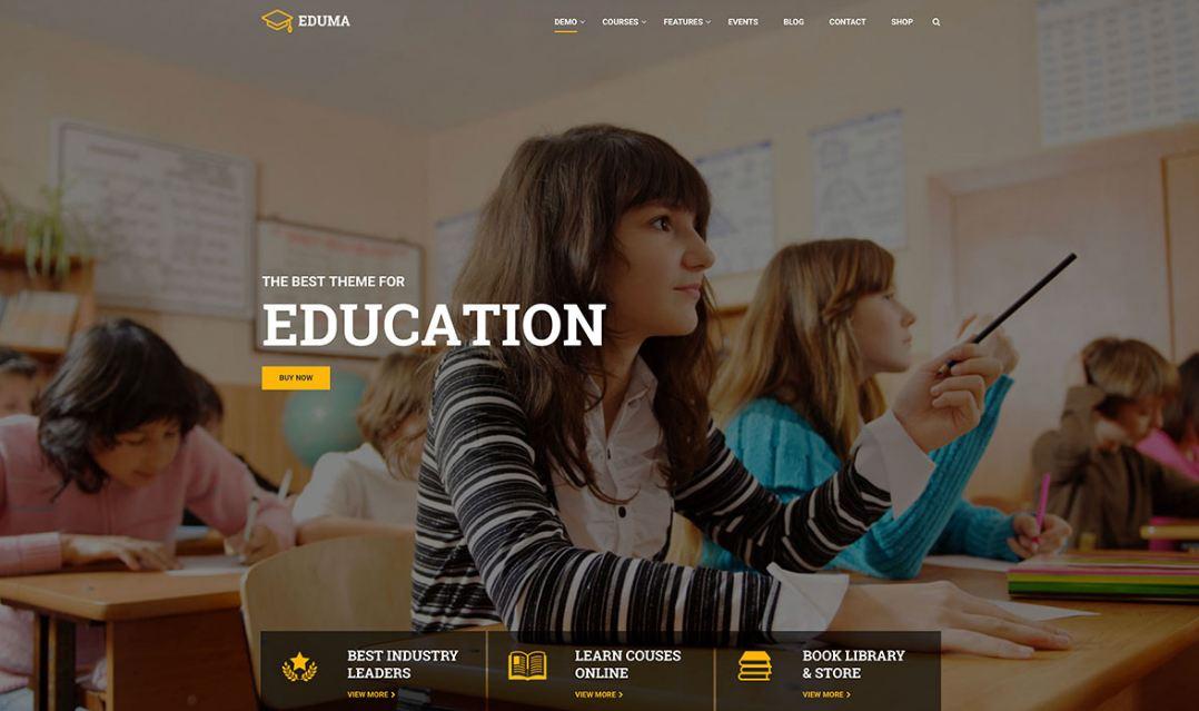 Top 10 mẫu website giáo dục - giới thiệu trường học hiện đại 2019