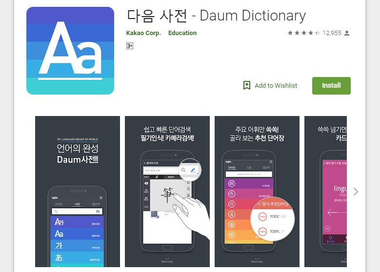 Daum dictionary