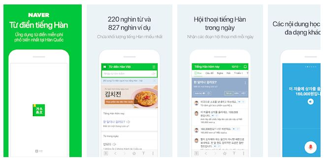 Naver dictionary apps
