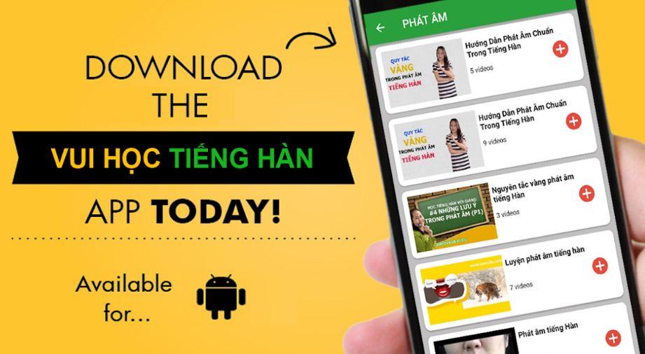 Top 10 app học tiếng Hàn trên Iphone, Android tốt nhất
