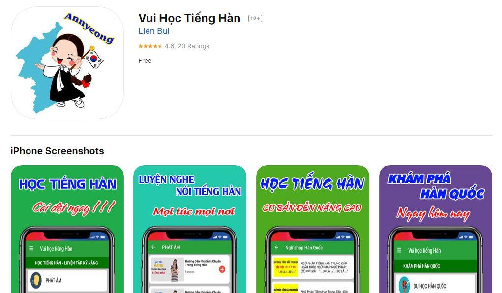 Vui học tiếng hàn với App này