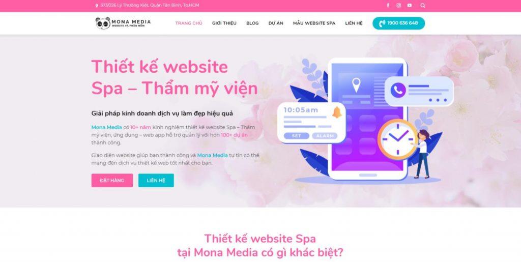 xây dựng trang web spa