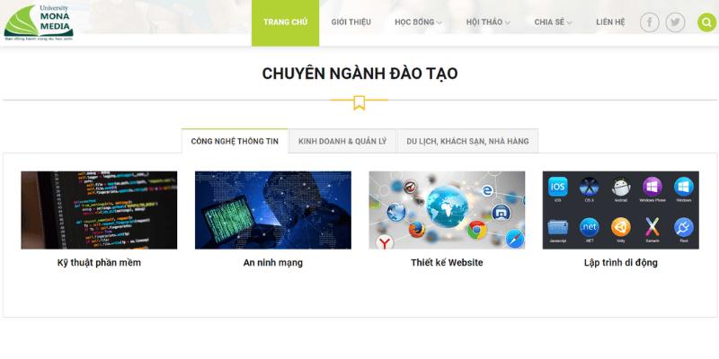 thiết kế website giáo dục đầy đủ tính năng