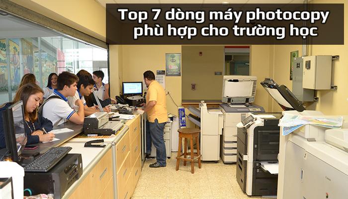 Top 7 dòng máy photocopy phù hợp cho trường học